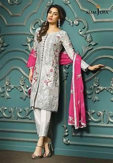 Clothes Design 2017 In Pakistan Pakistani Fancy Dresses Asim Jofa Mysorie Chiffon
