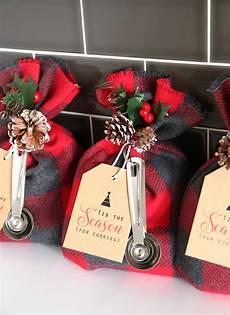 weihnachtsgeschenke basteln cookie mix gift sack easy diy gift idea it s