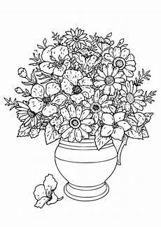 Ausmalbilder Blumenvase Malvorlage Vase Mit Wilden Blumen Kostenlose