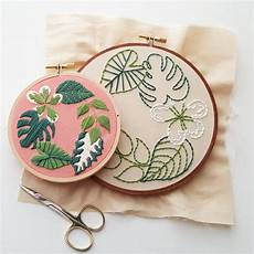 tropical plants embroidery pattern pdf namaste