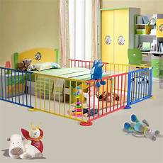 baby playpen 6 panel colors wooden frame playard room