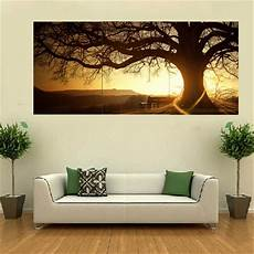 3pcs sunset combination painting printed on canvas