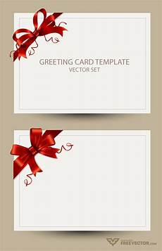 Card Templetes Freebie Greeting Card Templates With Red Bow Ai Eps