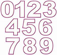 Numbers Design Template Just Numbers