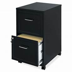 black metal 2 drawer filing cabinet with rolling casters