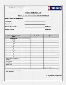 Cash Slips Bedi Advocates Note On Advance Tax With New Deposit Slips