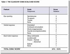 Glasgow Coma Scale Glasgow Coma Scale Image What S Going On In His Head