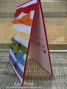 Ribbon Cards Rainbow Ribbon Card Sweet And Simple Ribbon Cards