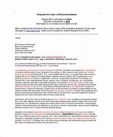 Uic Letter Of Recommendation Free 6 Sample College Recommendation Letter Templates In