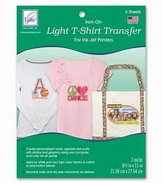 T Shirt Transfer June Tailor Light T Shirt Transfer Paper 3 Pkg Jo