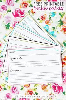 Recipes Cards Free Printable Recipe Cards Abby Lawson