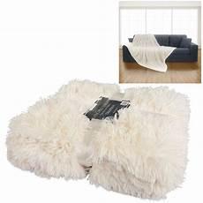 luxury soft pile throw blanket faux fur warm