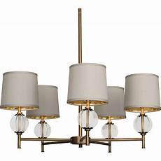 Ciro 3d Latitude Light Robert Abbey Latitude 5 Light Chandelier Aged Brass Clear