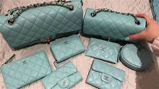 Chanel Mini Light Blue My Entire Chanel 19c Tiffany Light Blue Collection Youtube