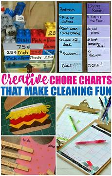 How To Make A Creative Chart Chore Charts For Kids That Will Make Cleaning More Fun