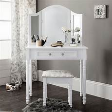 white dressing table mirror stool set dresser