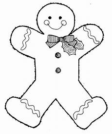Gingerbread Cookie Template Free Printable Gingerbread Man Coloring Pages For Kids