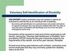 Self Identify Form Briefing On Revisions To Section 503 Of The Rehabilitation