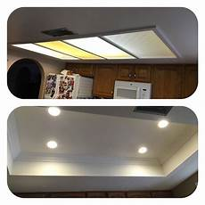 Converting Fluorescent Kitchen Lights Az Recessed Lighting Kitchen Conversion One Of Our Great