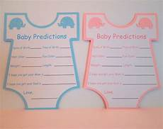 10 baby shower baby prediction cards baby shower