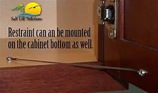 cabinet door restraint 5 pack 8 inch stainless steel