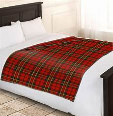 check blanket soft warm single king tartan