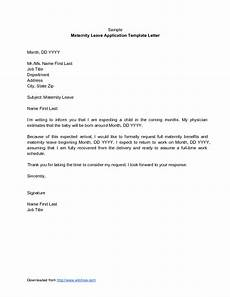 Notice For Maternity Leave Letter Maternity Leave Request Letter Scrumps
