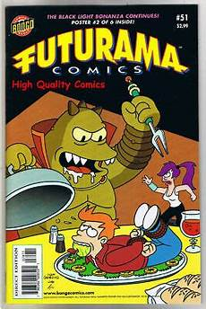 Futurama Light Futurama 51 Vf Nm W Black Light Poster Bongo Fry