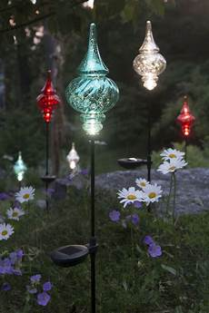 Diy Stakes For Christmas Lights Solar Garden Stakes Finial Outdoor Christmas Ornaments