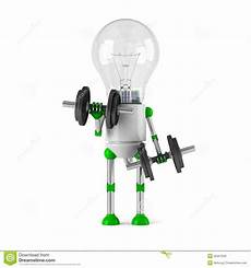 Light Robot Solar Powered Light Bulb Robot Fitness Stock