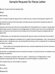How To Write A Raise Request Letter Sample Request For Raise Letter