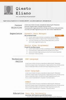 Creative Programmer Resume Free 18 Sample Creative Resume Templates In Doc