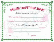 Certificate For Competition Writing Competition Award Certificate Sachin Award