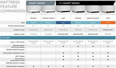 Sealy Mattress Comparison Chart Tempur Pedic Pro Adapt Mattress Reviews