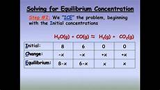 Chemistry Concentration Problems How To Solve Chemical Equilibrium Problems