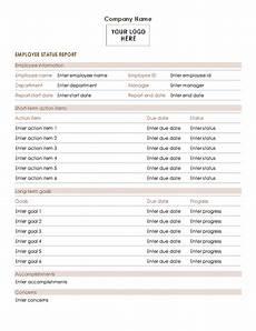 Employment Status Report Employee Status Report