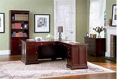 rich cherry l shaped home office set office sets