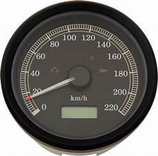 Harley Davidson Red Light On Speedometer Drag Specialties Electronic Kmh Speedo Speedometer 99 03