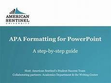 Apa Formatting For Powerpoint Apa Formatting For Powerpoint Youtube