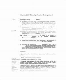 Standart Contract Free 13 Standard Service Contract Templates In Pdf Ms