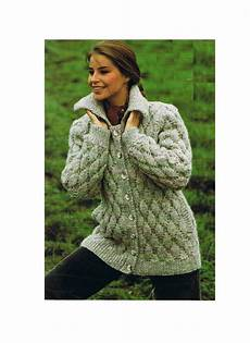 knitting pattern chunky jacket cardigan coat