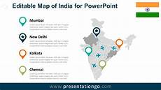 Map Powerpoint India Editable Powerpoint Map Presentationgo Com