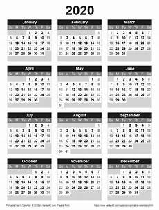 2020 Payroll Calendar Template Download A Free Printable 2020 Yearly Calendar From