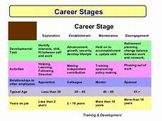 Stages Of Career Development Development Amp Career Management