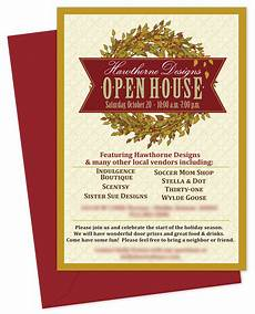Business Open House Invitation Inventiveinvites Fall Wreath Open House Invitation