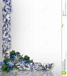 Blue Holiday Border Christmas Border Blue Ornaments Stock Images Image 4090744