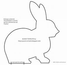 Printable Bunny Template Yoonie At Home Off To A Hopping Start A Busy New Year