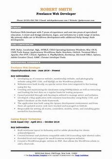Wordpress Developer Resume Freelance Web Developer Resume Samples Qwikresume