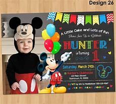 Custom Mickey Mouse Invitations Birthday Invitation Mickey Mouse Birthday Invitations