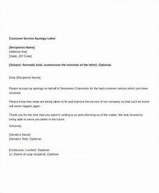 Apology Letter To Customers Apology Letter Template 9 Free Word Pdf Documents